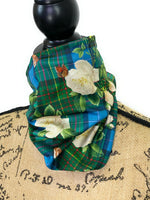 Anderson Tartan and White Rose Neck Gaiter/Face Covering