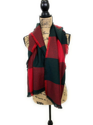 X-Large Block Buffalo Plaid Acrylic Scarf