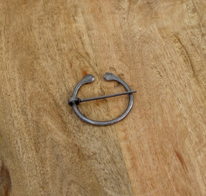 Celtic Antiqued Rounded Tip Penannular Brooch, Cloak Pin, Scarf Ring