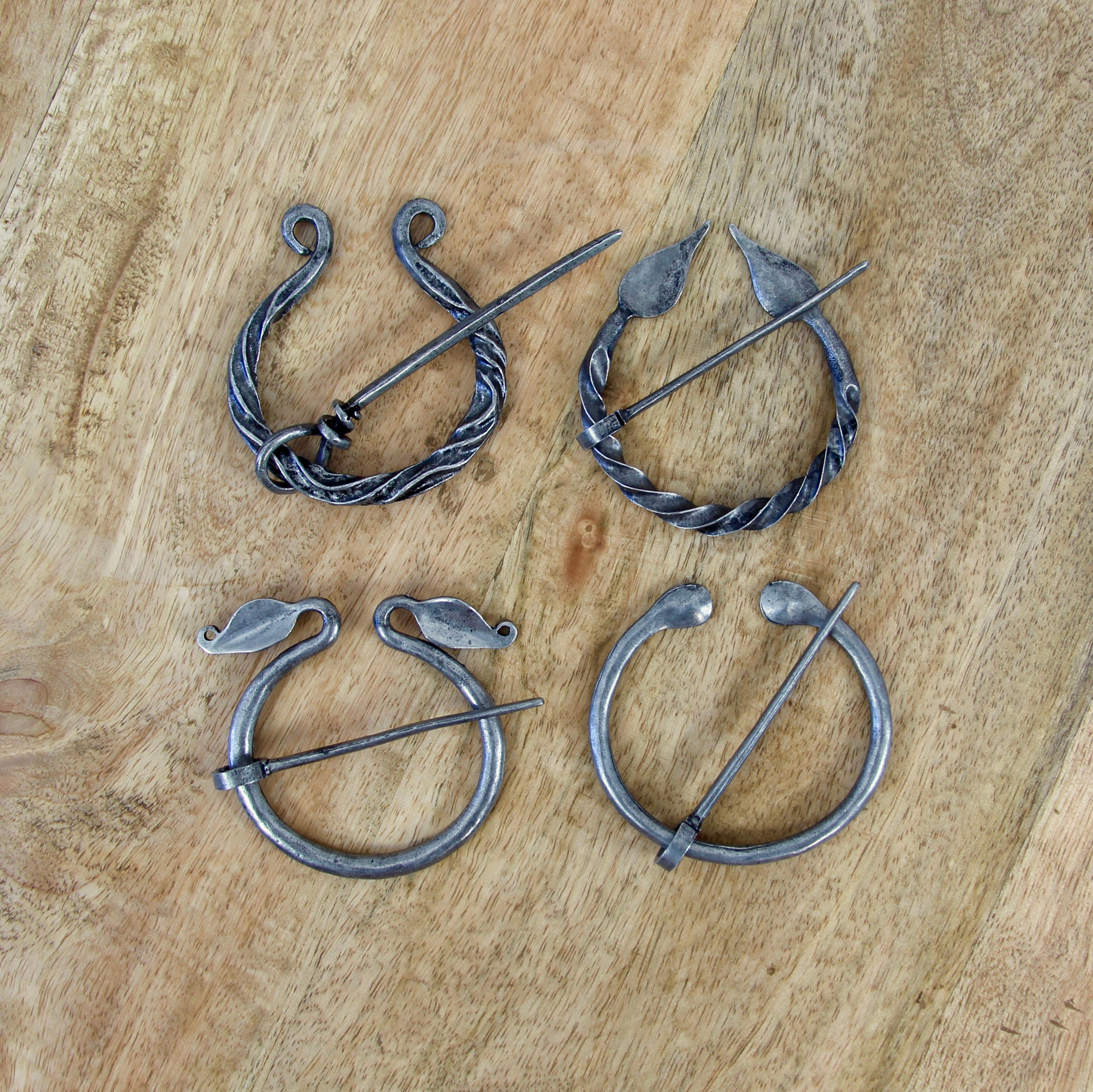 Celtic Antique Looking Twisted Penannular Brooch, Cloak Pin, Scarf Ring
