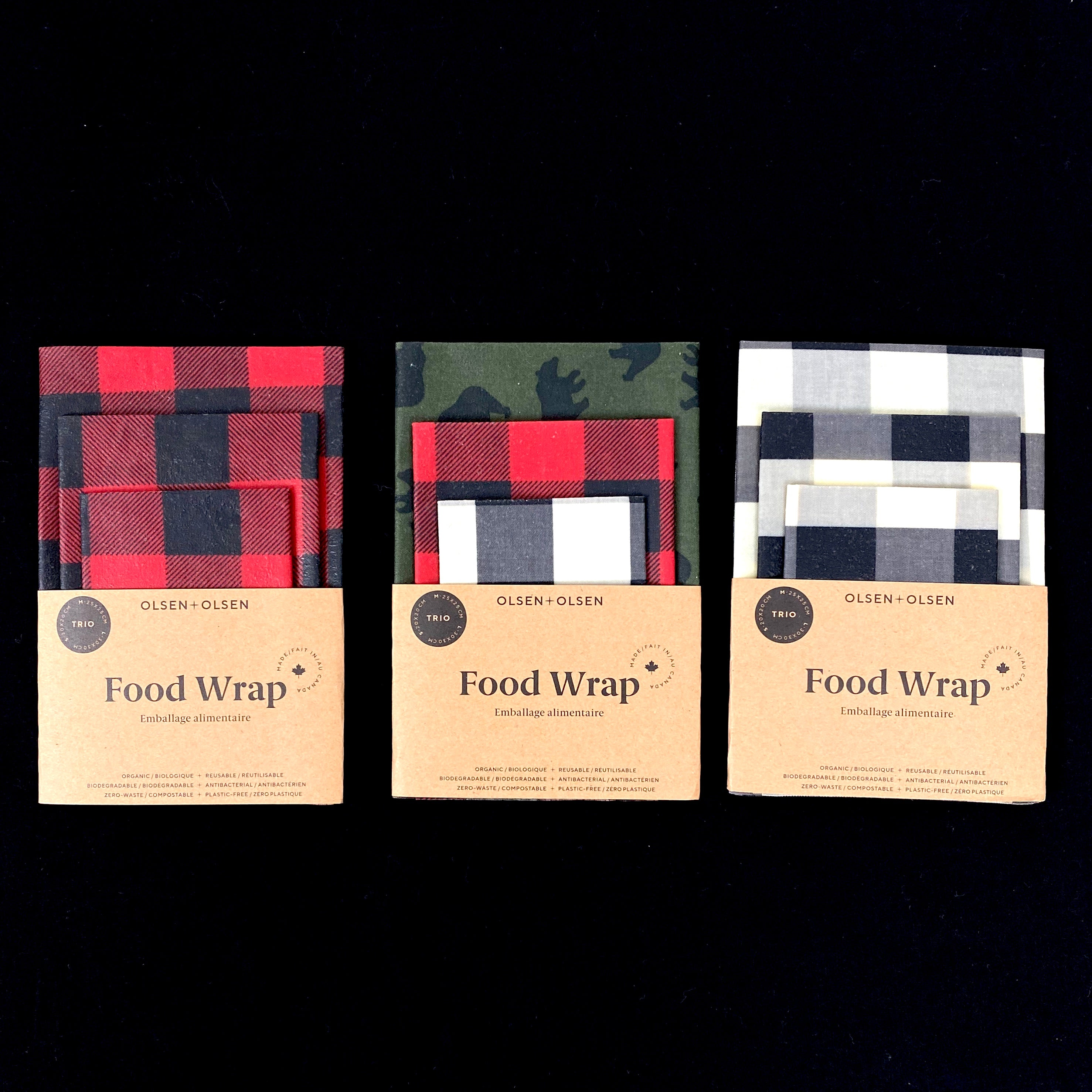 NEW Assorted Plaid Beeswax Food Wraps