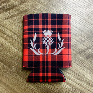 NEW Red Plaid Scottish Thistle Can Koozie Cozy