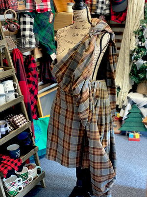 5-Yard Great Kilt - Outlander Clan Fraser Inspired Comfy Cotton Flannel Kilt