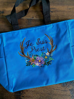 Je Suis Prest Embroidered Tote Bag - Outlander Inspiration