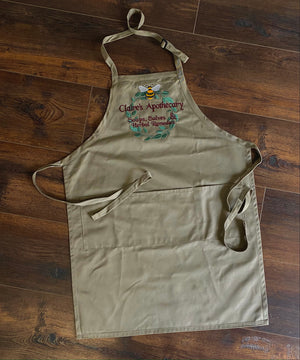 Claire's Apothecary Embroidered Apron - Outlander Inspiration