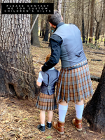 5-Yard Kilt - Outlander Clan Fraser Inspired Military Comfy Cotton Flannel Kilt