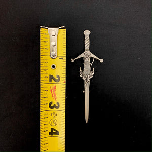 Claymore Sword Celtic Trinity Knot Scottish Thistle Kilt Pin