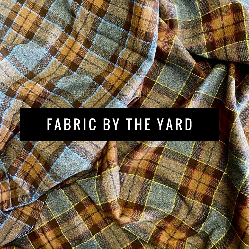 Fabric By-The-Yard - Outlander Clan Fraser and Clan MacKenzie Inspired Cotton Flannel