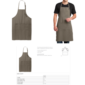 """Just Roll With It"" Embroidered Apron - Craftsman and Canvas Style Options"