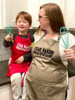 Star Baker Embroidered Apron - Multiple Apron Color/Style Options