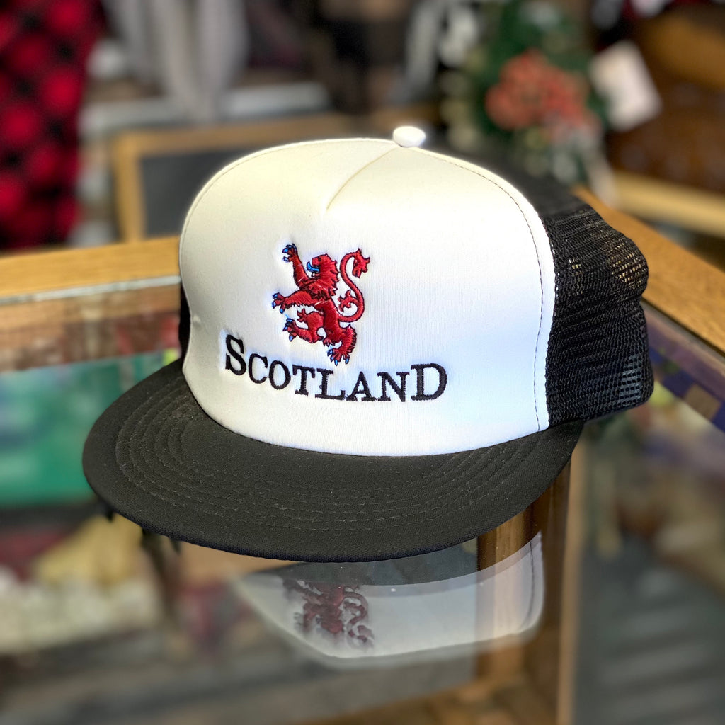 Rampant Lion Scotland Embroidered Foam Mesh Back Trucker Hat - Multiple Customizable Options