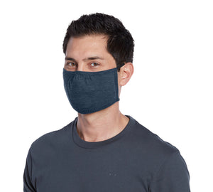 3-Ply Jersey Face Mask - Behind the head elastic - Nose Pinch - Cotton Poly Blend