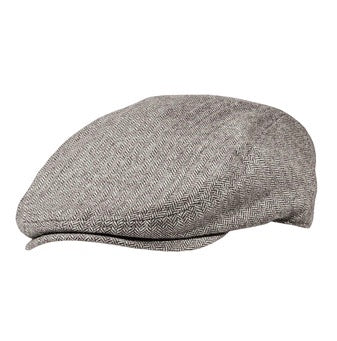Cabby/Newsboy Hat Brown and Cream Herringbone Wool Blend Golf Cap