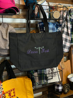 Dinna Fash Celtic Knot Dragonfly Embroidered Tote Bag