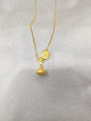 999 / 24k gold persimmon necklace