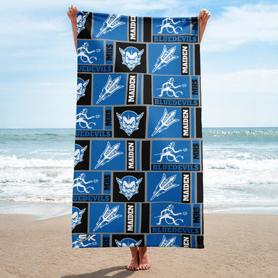 Old School Maiden Logo Beach Towel