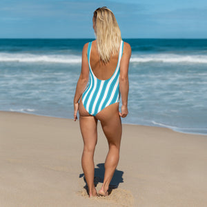 Ocean Blue One-Piece Swimsuit