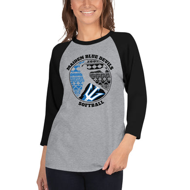 Maiden Softball 3/4 Sleeve Raglan Shirt