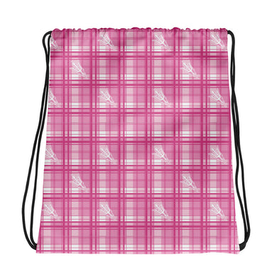 Pinkout Pitchfork Drawstring bag