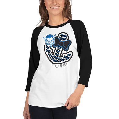 Blue Devils Anchor 3/4 Sleeve Raglan Shirt