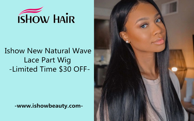 Ishow New Natural Wave Lace Part Wig - $30 OFF