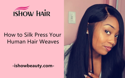 How to Silk Press Your Human Hair Weaves