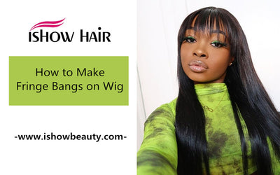 How to Make Fringe Bangs on Wig