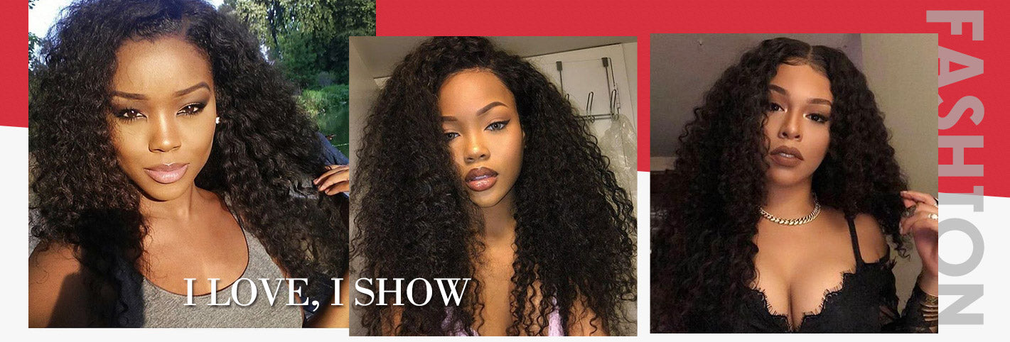 Ishow Hair Brazilian Curly Hair 4 Bundles 100% Virgin Human Hair Extensions