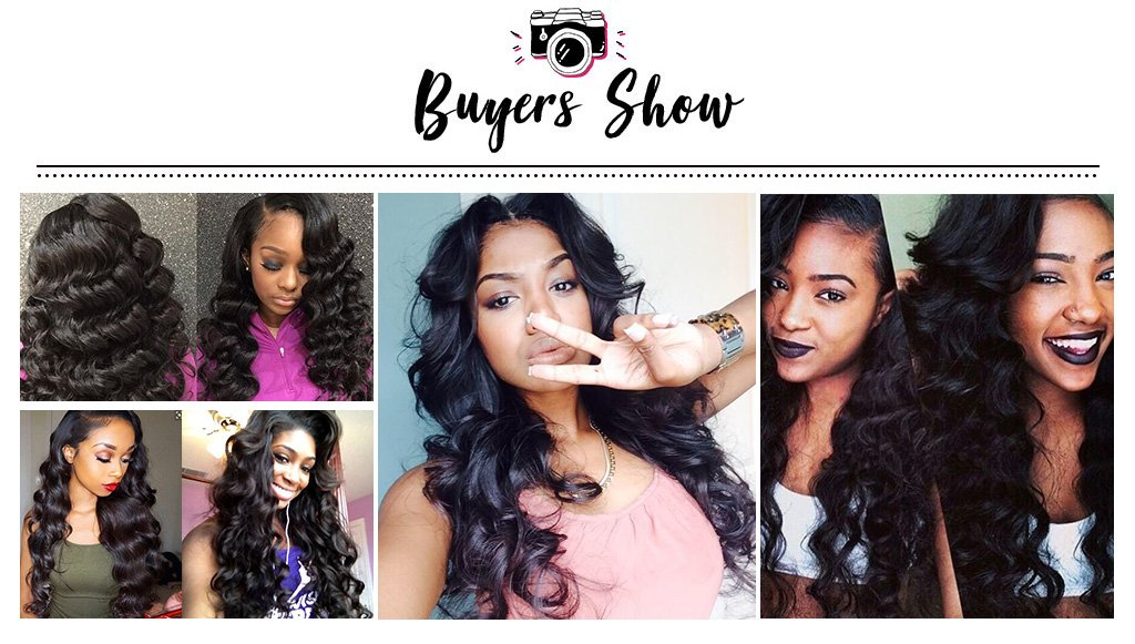 Ishow Brazilian Loose Wave Hair 4 Bundles With 4*4 Lace Closure Deals