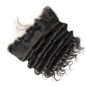Ishow Loose Deep Wave Ear To Ear 13*4 Lace Frontal Closure Pre Plucked with Baby Hair