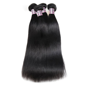 4 Bundles Ishow Hair Extensions Peruvian Straight Remy Virgin Human Hair Weave Natural Color Human Hair Bundles - IshowVirginHair