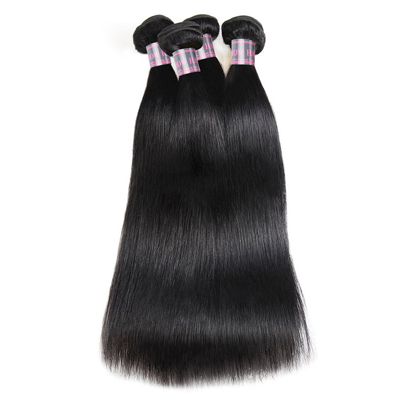 Virgin Peruvian Straight Hair 4 Bundles Ishow Human Hair Weave