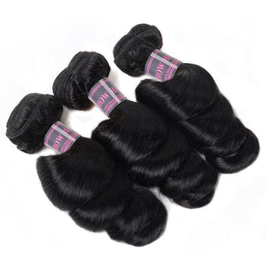 Brazilian Loose Wave Ishow Virgin Human Hair Weave 3 Bundles With 2*4 Lace Closure With Baby Hair - IshowVirginHair