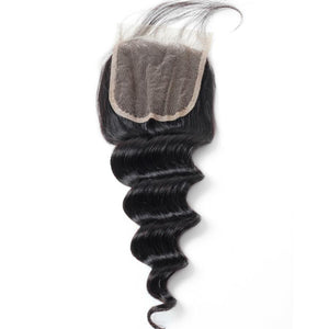 Ishow Loose Deep Wave Hair 4*4 Lace Closure With Baby Hair
