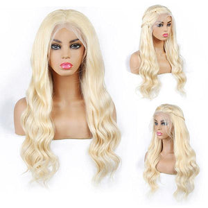 Brazilian 613 Blonde Body Wave Human Hair Wigs 4x4 Lace Closure Wig