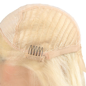 Ishow Hair Platinum Blonde Peruvian 613 Straight Human Hair Wig Summer Hot Selling Hairstyles