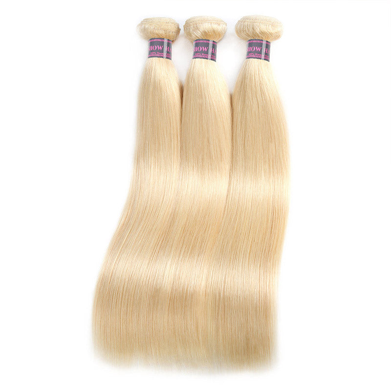 Ishow Hair Virgin Brazilian Human Hair Blonde Straight Hair Weave 4 Bundles