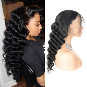 Ishow Malaysian Lace Front Hair Wigs Loose Deep Wave Virgin Remy Human Hair Wig