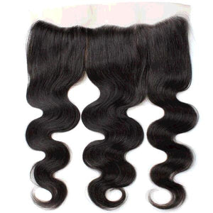 Virgin Human Hair Body Wave 13*4 Ear to Ear Lace Frontal Pre Plucked with Baby Hair