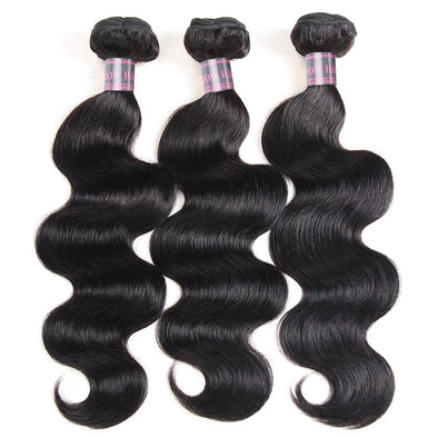 Brazilian Body Wave 3 Bundles Deal Ishow Body Wave Hair Bundles Natural Color - IshowVirginHair