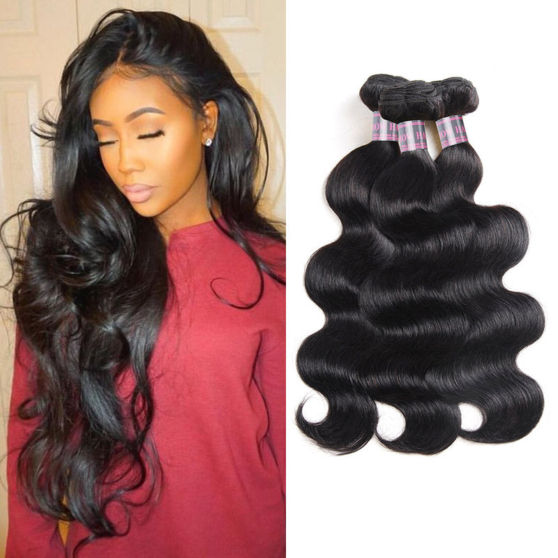 Ishow Hair Virgin Brazilian Hair Body Wave Human Hair Weave 3 Bundles