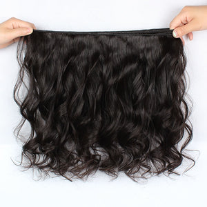 Virgin Malaysian Loose Wave Hair 3 Bundles With 4*4 Lace Closure