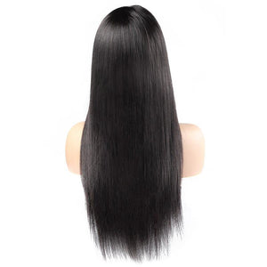 Ishow 360 Lace Front Straight Human Hair Wigs Indian 360 Pre-Plucked Lace Frontal Wig