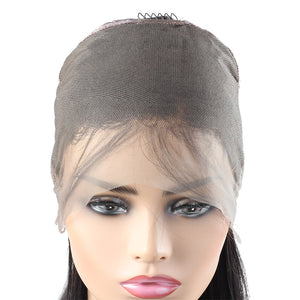Ishow Malaysian 360 Lace Front Straight Pre-Plucked Virgin Human Hair Wigs