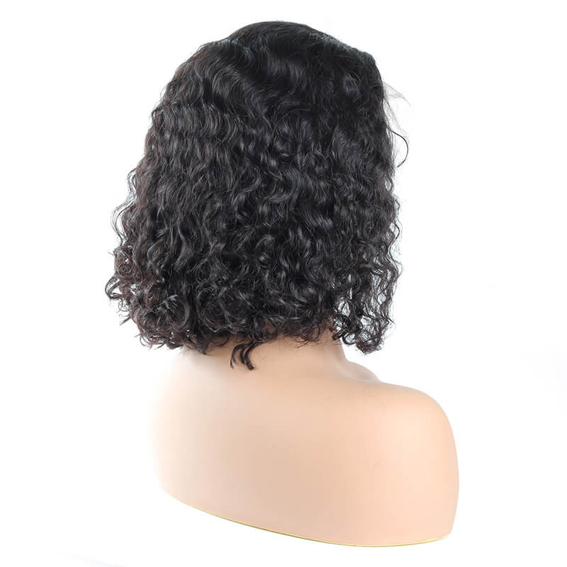 Ishow Hair Short Bob Wig Brazilian Curly Virgin Human Hair Lace Front Wigs