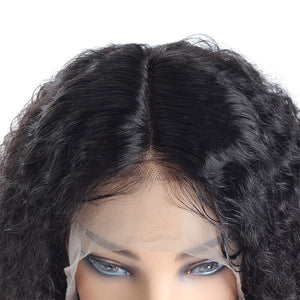 Ishow Short Bob Wig Brazilian Jerry Curly Human Hair Lace Front Wigs, 100% Unprocessed Virgin Human Hair