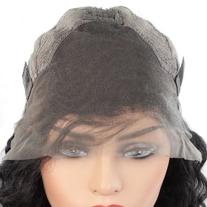 Ishow Hair Wig Brazilian Short Bob Deep Wave Lace Front Human Hair  Wigs