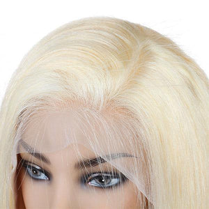 Brazilian 613 Boby Wave Lace Frontal Wig Platinum Blonde Hair Wigs