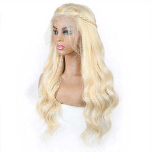 Brazilian 613 Body Wave Lace Frontal Wig Platinum Blonde Hair Wigs