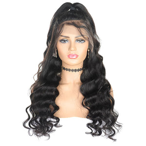 Ishow Hair Lace Wig Brazilian Loose Wave 4x4 Lace Closure Virgin Remy human Hair Wigs
